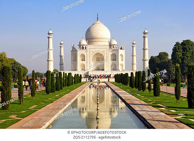 Taj Mahal, Agra, Uttar Pradesh, India, UNESCO World Heritage Site