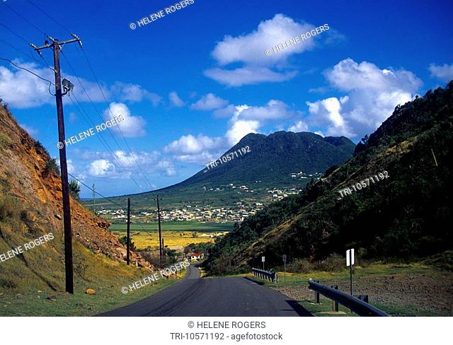 Netherlands Antilles St Eustatius Road to the Quill