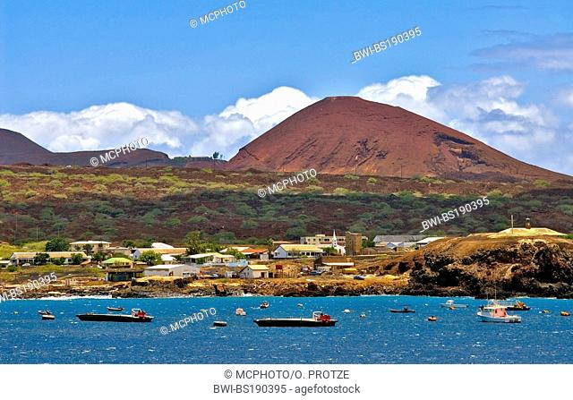 Georgetown the main town on Ascension Island at the African West Coast, Ascension, Georgetown