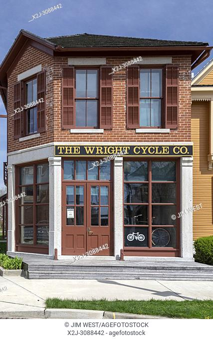 Dayton, Ohio - The Wright Cycle Co. at the Dayton Aviation Heritage National Historical Park. Wilbur and Orville Wright built their first airplane here