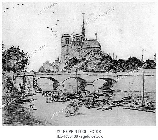 'Notre Dame', c1870-1920 (1924). A print from A History of French Etching from the 16th Century to the Present Day, by F L Leipnik