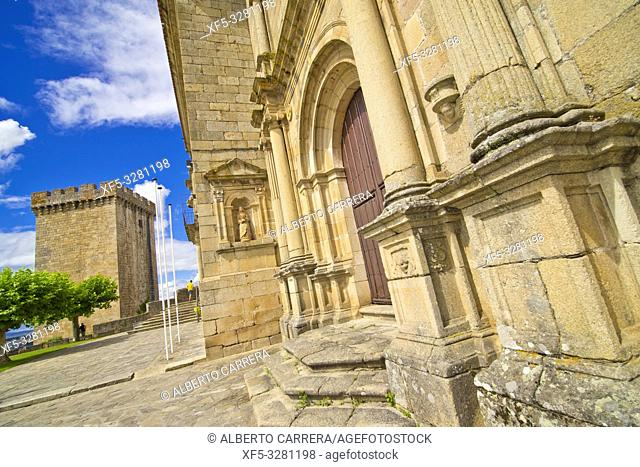 Monastery of San Vicente del Pino, Neoclassic Style, Luxury Parador Hotel, 13th Century Castle of San Vicente, Monforte de Lemos, Lugo, Galicia, Spain, Europe
