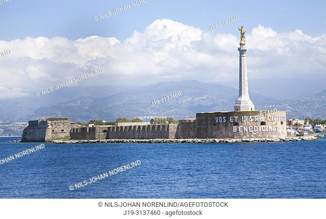 Pier harbour Messina, Sicily