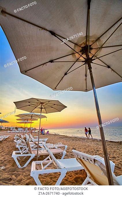 'Las Marinas' beach at sunset. Denia. Alicante. Spain