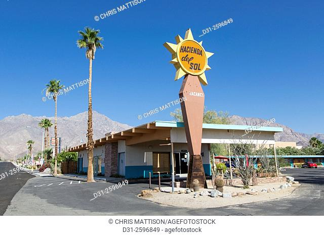 """Motel, """"""""Hacienda del Sol"""""""", Borrego Springs, California"""