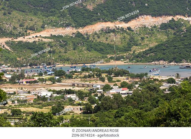 Küstenort Vinh Hy, Vietnam, Südostasien