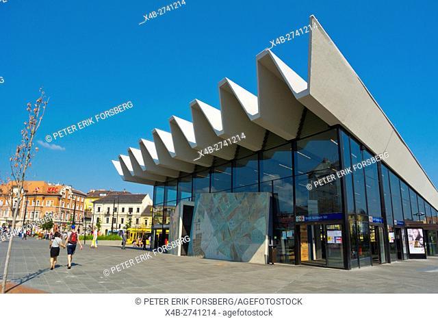 Metro station exterior, Szell Kalman ter, former Moszkva ter, Buda, Budapest, Hungary, Europe