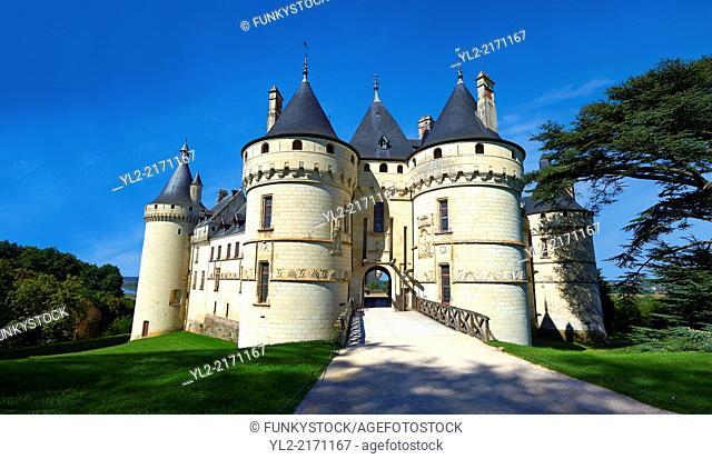 15th century castle Château de Chaumont, rebuilt by Charles I d'Amboise, acquired by Catherine de Medici in 1560. Chaumont-sur-Loire, Loir-et-Cher, France