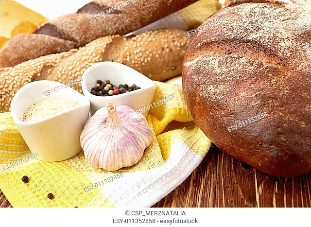 Different bread. Food background