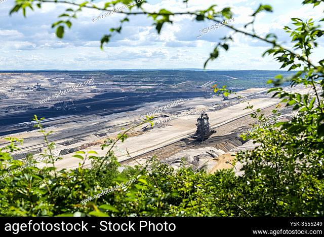 Hambach, Germany. The Hambach Brown Coal Open Pit Mine fuelles an Electrical Power Plant, but is considered to exhaust to much carbon and CO2