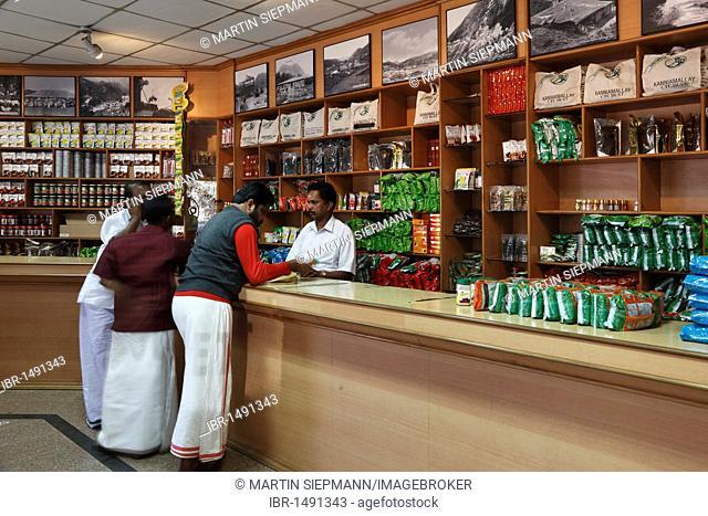 Tea shop at the KDHP House, Kanan Devan Hills Plantations Company, Munnar, Kerala, India, South Asia, Asia