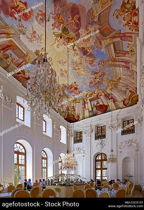 Ballroom in the orangery in Fulda, Hessen, Germany