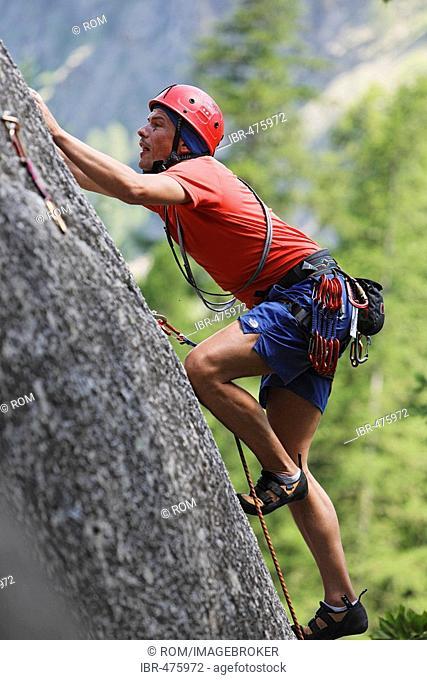 Climbing in Ailefroide, Provence-Alpes-Cote de Azur, Hautes-Alpes, France