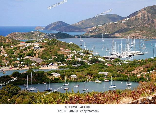 Falmouth bay and english harbour, Antigua