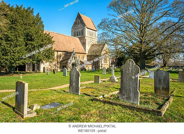 A view of the parish church of St Lawrence at Castle Rising, Norfolk, England, United Kingdom