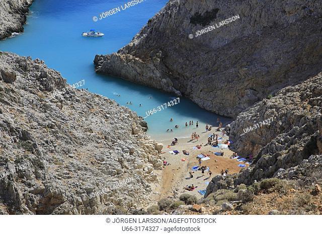 Seitan beach. Crete, Greece