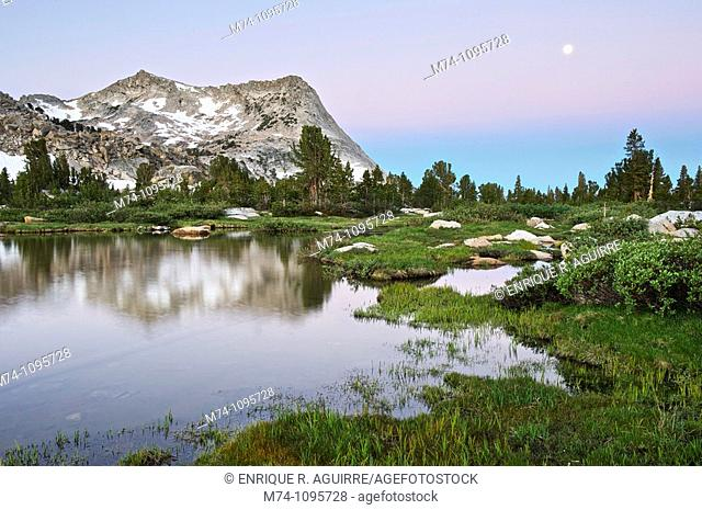Vogelsang peak and Fletcher Creek, Yosemite High Sierra Wilderness