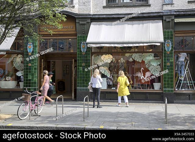 Anthropologie Shop, Kings Road, Chelsea, London; England; UK