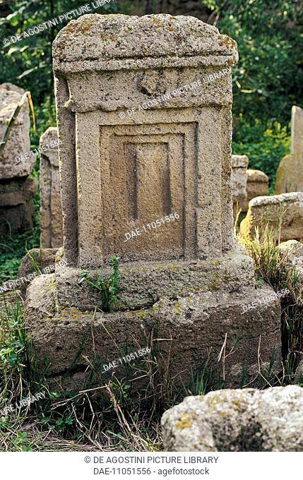 Votive stele, Phoenician-Punic Tanit and Baal Hammon Tophet (sanctuary), Archaeological Site of Carthage (Unesco World Heritage List, 1979), Tunisia