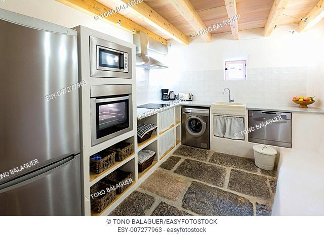 Majorca Balearic kitchen indoor house in Balearic islands Mediterranean architecture of Mallorca