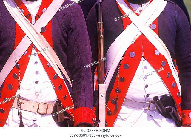 Historical Reenactment, Daniel Boone Homestead, Brigade of American Revolution, Continental Army Infantry