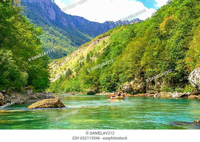 Rafting on Tara River, Montenegro