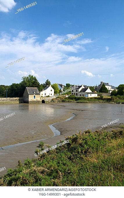 Tide mill in Morbihan region, Bryttany, France, Europe