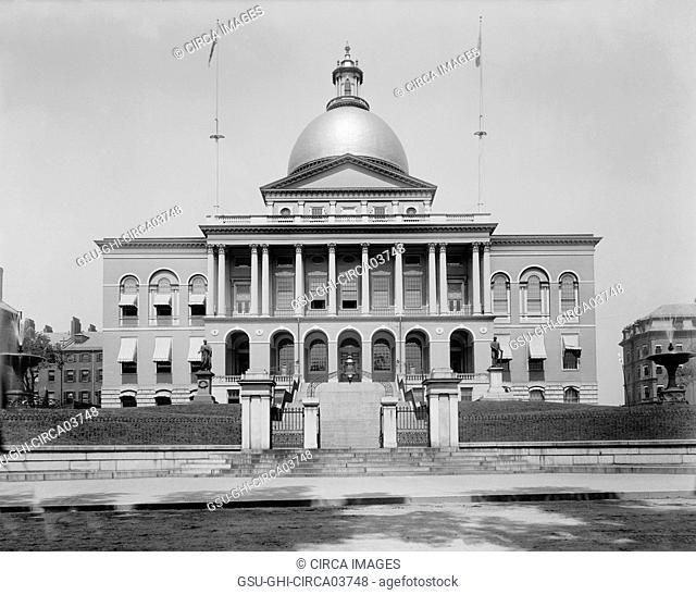 State House, Boston, Massachusetts, USA, Detroit Publishing Company, 1899