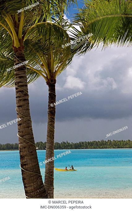 French Polynesia, Leeward islands, Bora Bora, beach