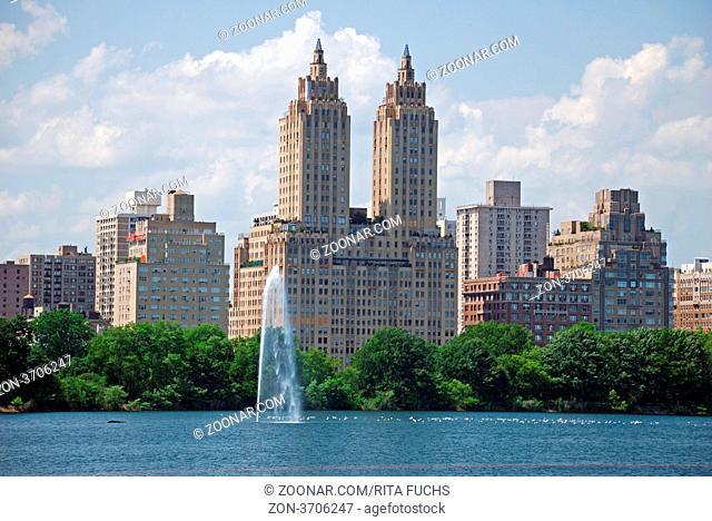 See im Central Park, Manhatten, New York City, USA, Amerika