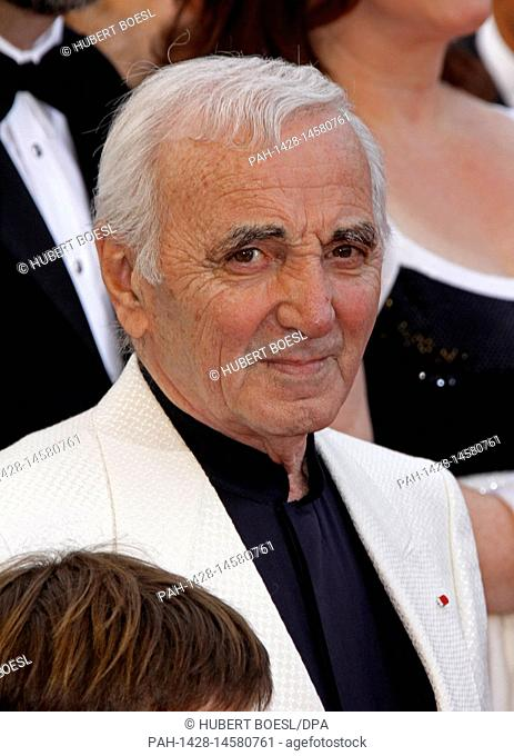 French singer Charles Aznavour arrives for the gala screening of Pixar?s animation film ?Up? that runs out of competition and opens the 62nd Cannes Film...