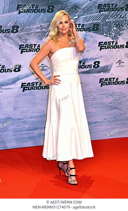 Premiere 'Fast and Furious 8' at CineStar Sony Center Potsdamer Platz. Featuring: Charlize Theron Where: Berlin, Germany When: 04 Apr 2017 Credit: AEDT/WENN