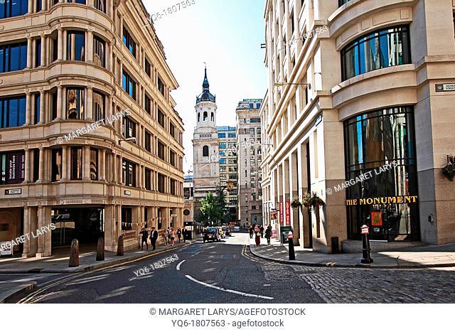 Monument Street, London, UK