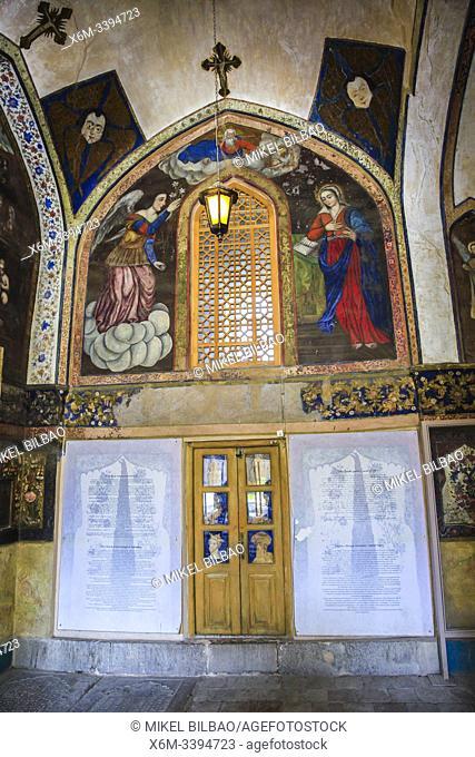 Entrance. Vank Cathedral or Holy Savior Cathedral. New Julfa district. Isfahan, Iran. Asia