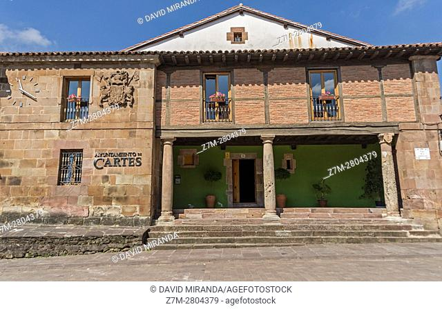 City Hall, Cartes village, Cantabria, Spain. Historical Heritage Site