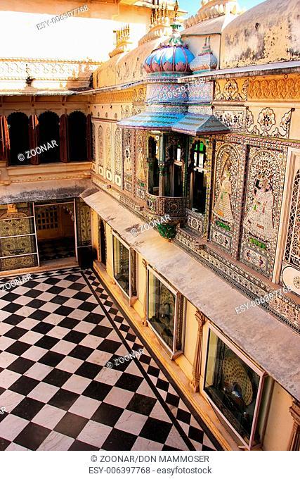 Peacock Square, City Palace complex, Udaipur, Raja