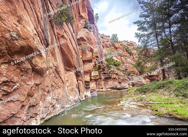 Hike near Peñarroyas, Cultural Park of Rio Martin, Teruel, Spain