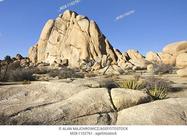 Granite rock of Joshua Tree National Park California