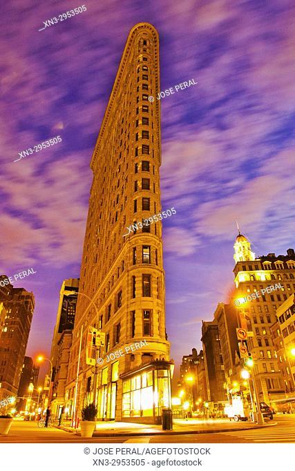 Flatiron Building, Brodway and Fifth Avenue, Midtown, Manhattan, New York, New York City, USA