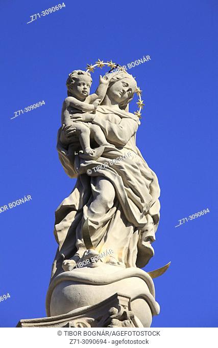 Slovakia, Bratislava, Marian Column,