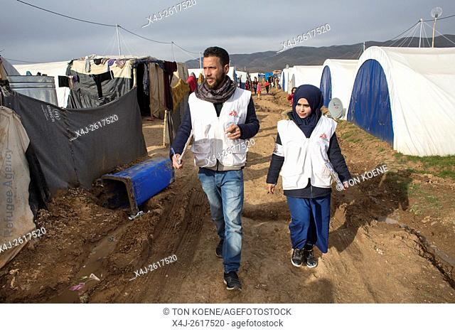 MSF Health promoters at work in Arbat refugee kamp, Northern Iraq