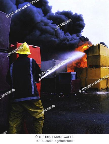 Fire, Container Blaze on back, of Lorry - Howth Co Dublin