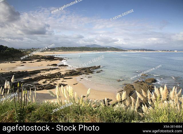 View on Loredo Beach; Santander; Cantabria; Spain