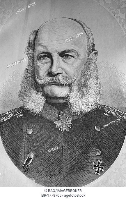 Emperor William I, Illustrierte Kriegschronik 1870-1871 illustrated war history, German-French campaign, Weber