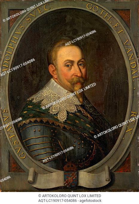 Portrait of Gustav Adolf, King of Sweden, oil on panel, 91 x 66.5 cm, Signed lower right in an oval frame: Io Plep., Transcript of the frame: GVSTAVVS ADOLPHVS...