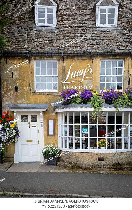 Lucy's Tearoom in Stow-on-the-Wold, the Cotswolds, Gloucestershire, England