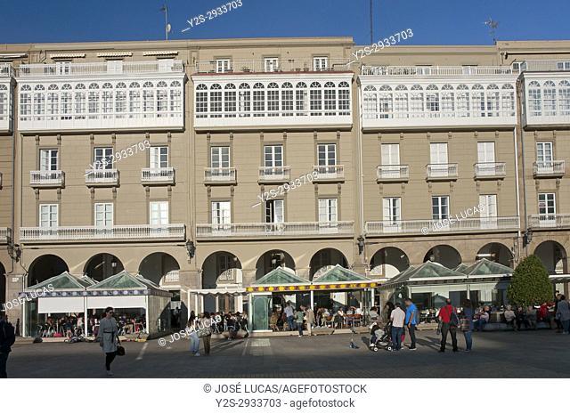 Maria Pita square, La Coruna, Region of Galicia, Spain, Europe