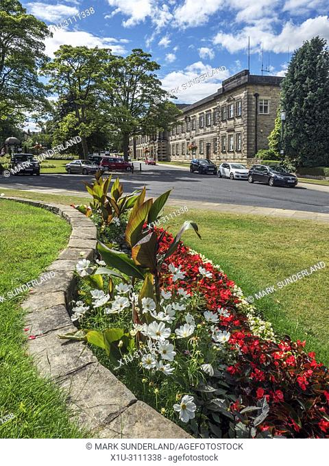 Crescent Gardens and former Council Offices in Harrogate North Yorkshire England