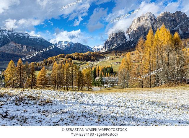 Passo Tre Croci, Cortina D'Ampezzo, Province of Belluno, region of Veneto, Italy, Europe
