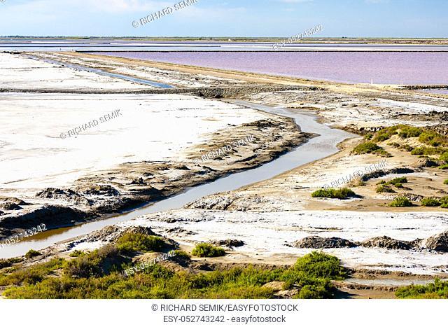 Dunes of salt, Aigues-Mortes, France